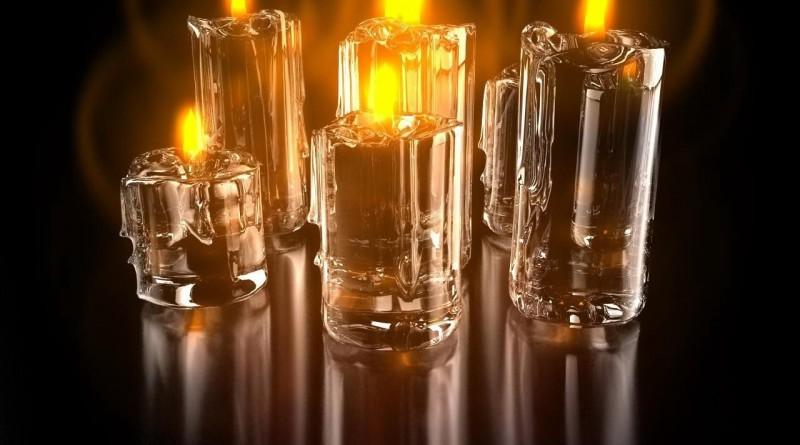 прозрачные свечи