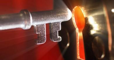 ключ замок