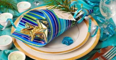салфетки, праздничный стол