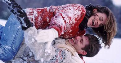 любовь, зима, влюбленные