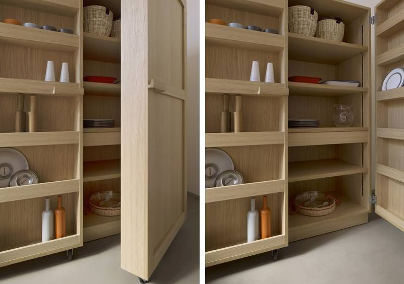 кухонный модульный шкаф на колесах
