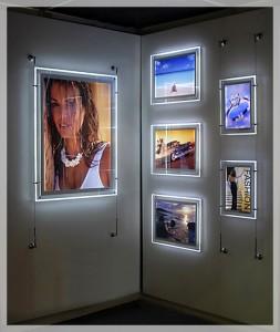 Стеклянные рамы для фото с подсветкой