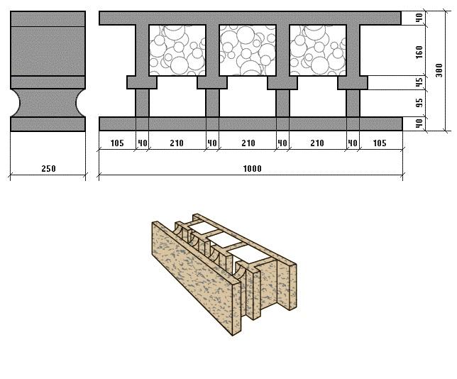 бризолит-блок для внешних стен