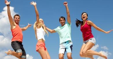 спорт лето отдых прыжок