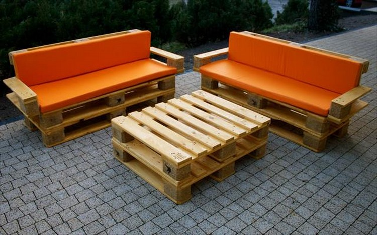 DIY Outdoor Patio Furniture from Pallets  The Sassy Sparrow