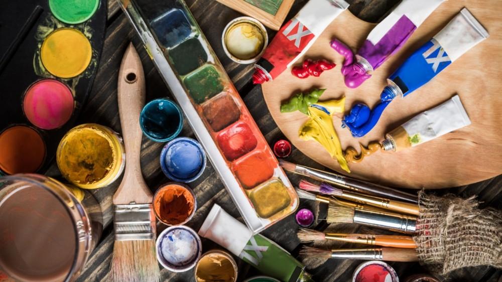 краски палитра художник