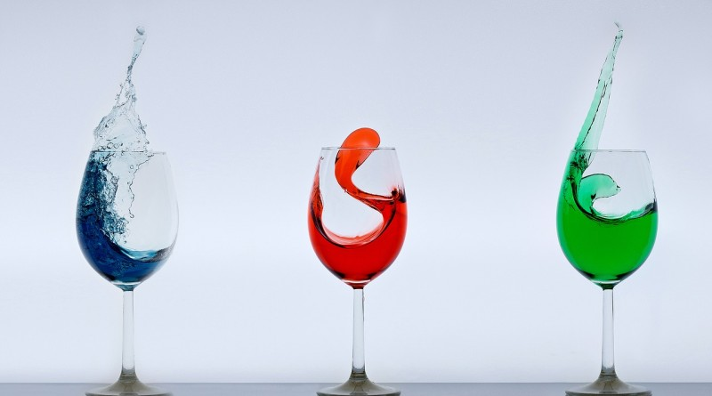 вино вода бокал
