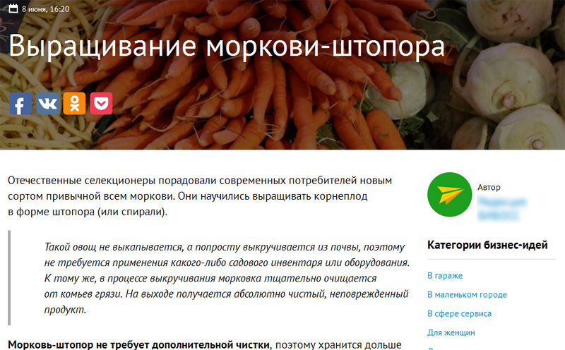 hobiz морковь-штопор