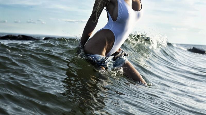 океан тело девочка секси грудь пляж