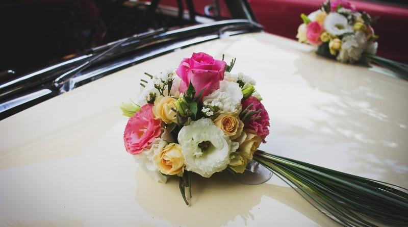 украшение свадьба автомобиль