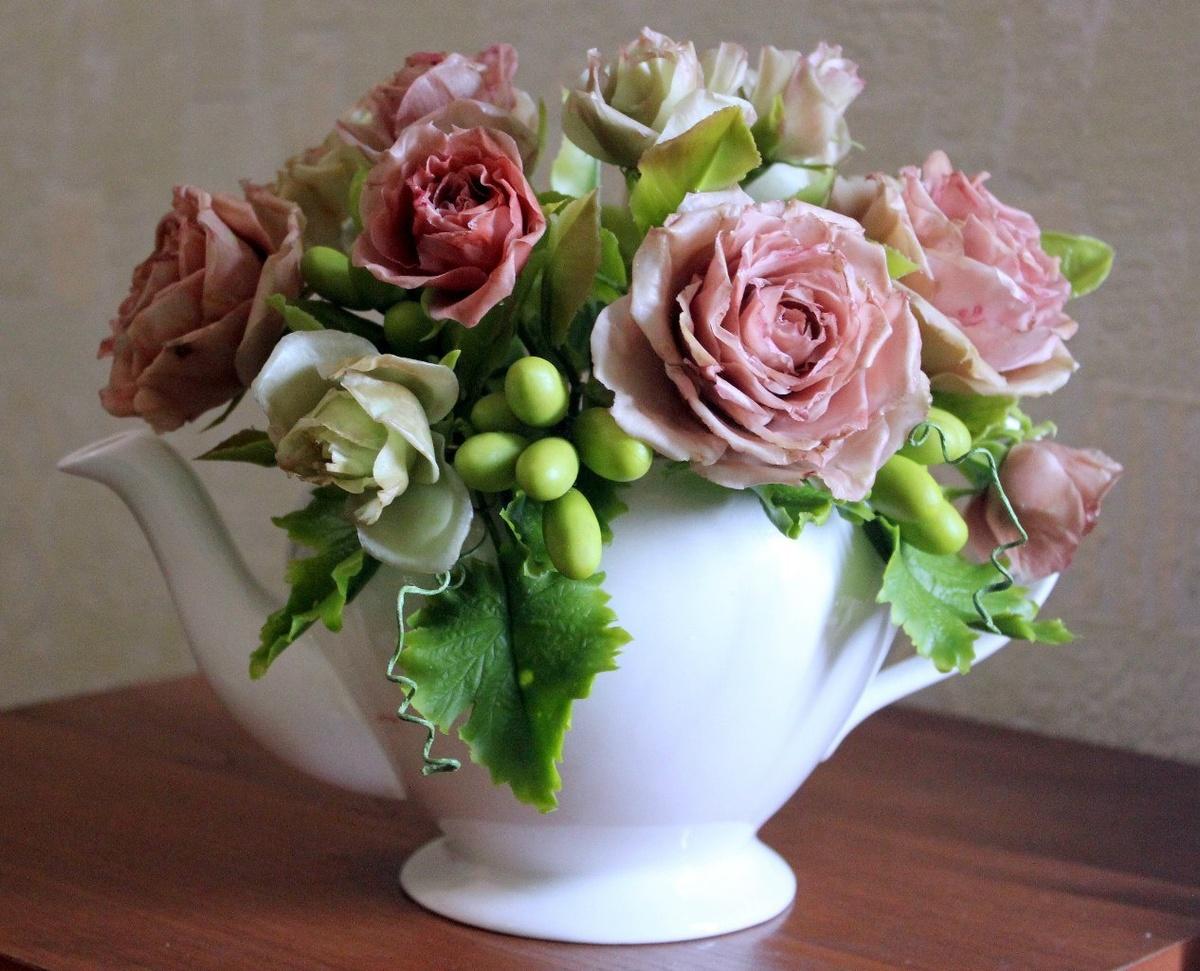 цветы фарфор