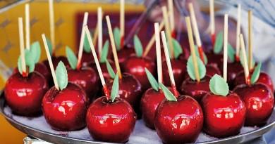 карамель яблоко лакомство