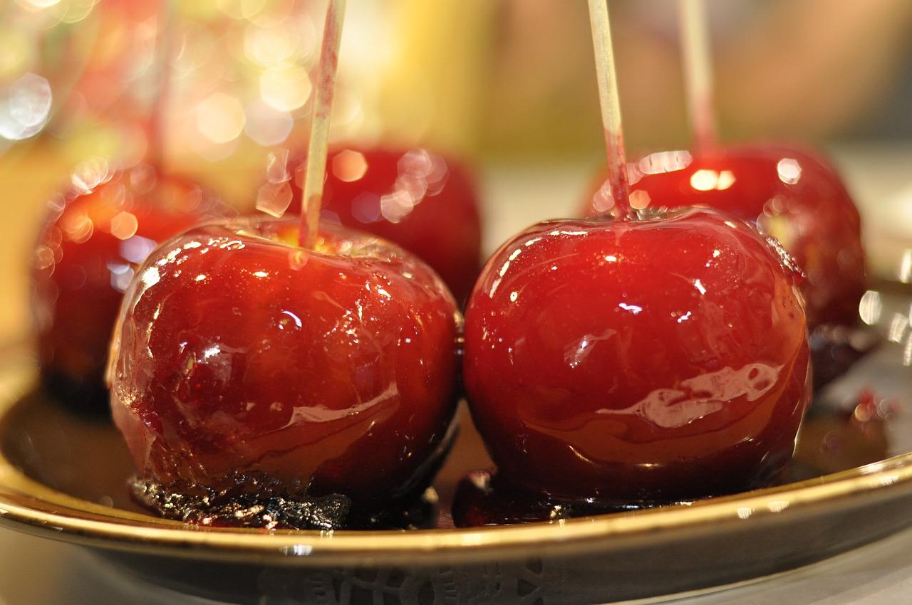 карамель яблоко сладость