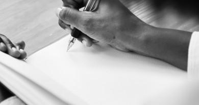письмо рука ручка