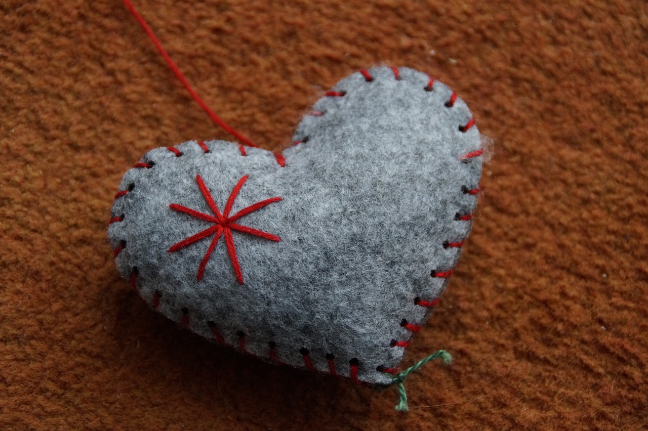 войлок сердце